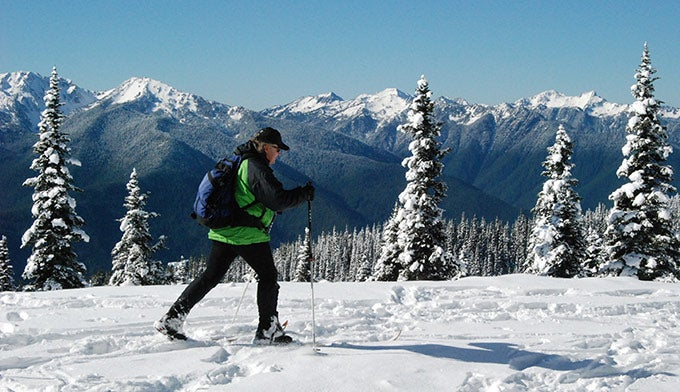 Cross-country skiën op Hurricane Ridge. Foto door NPS